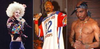Madonna, Snoop Dogg e Tupac Shakur