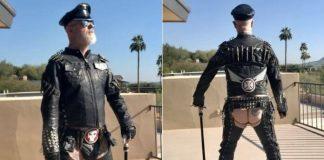 Rob Halford (Judas Priest) com a bunda de fora