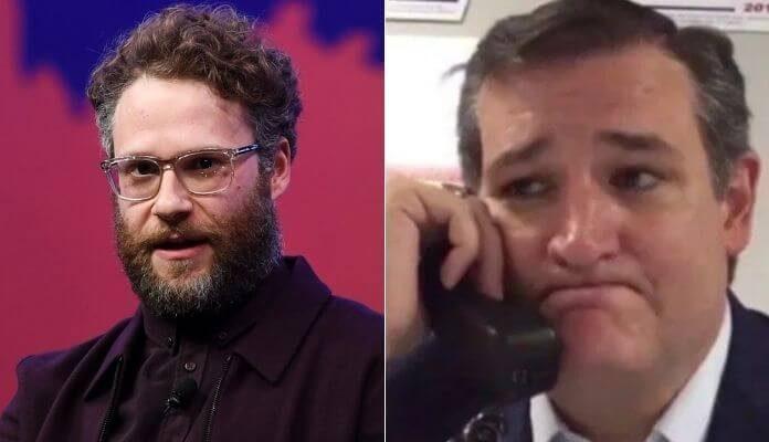 Seth Rogen e Ted Cruz