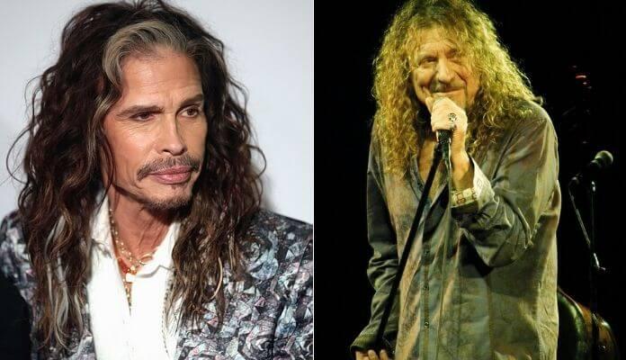 """Steven Tyler relembra ensaio com o Led Zeppelin e """"raiva"""" de Robert Plant"""