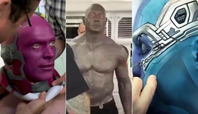 Vingadores: vídeo mostra processo de maquiagem dos atores