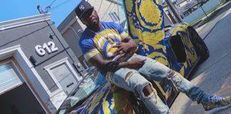 50 Cent com sua Lamborghini da Versace