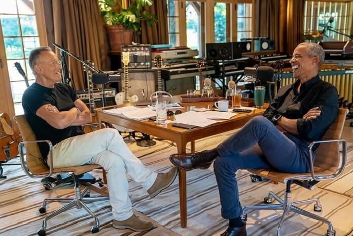 Barack Obama conversa com Bruce Springsteen em novo podcast