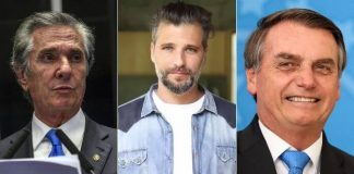 Fernando Collor, Bruno Gagliasso e Jair Bolsonaro