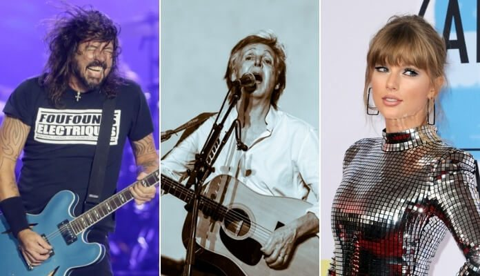 Dave Grohl, Paul McCartney e Taylor Swift