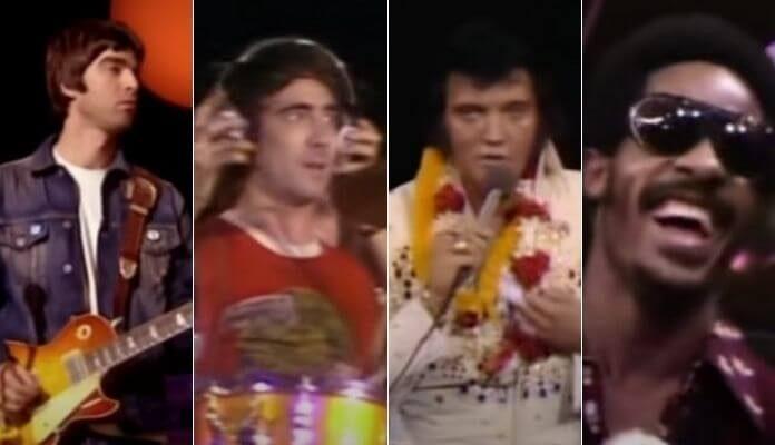 Elvis Presley e uma banda de lendas da música