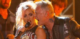 Lady Gaga com o Metallica