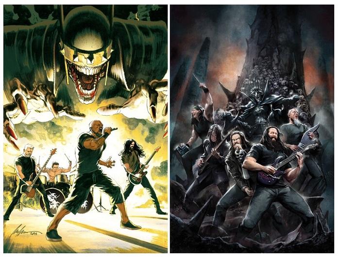 Sepultura e Dream Theater nos quadrinhos da DC
