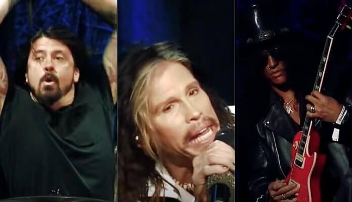 Dave Grohl, Steven Tyler e Slash