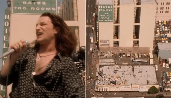 U2 no Hotel Cecil