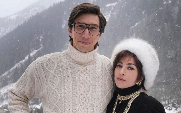 Adam Driver e Lady Gaga em House of Gucci