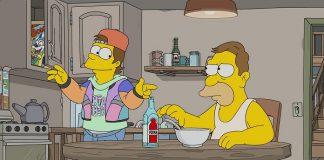 Homer adolescente anos 90 simpsons