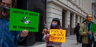 Spotify protesto