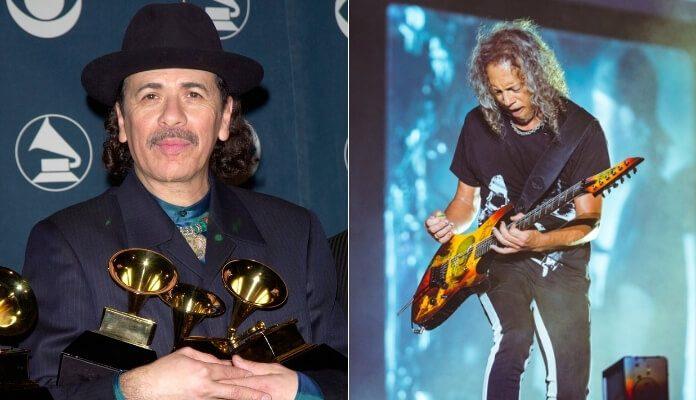 Carlos Santana e Kirk Hammett