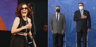Clarice Falcão e Jair Bolsonaro