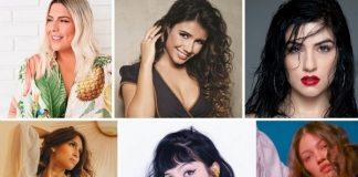 Ana Clara, Paula Fernandes, Clau, Isadora, Jenni Mosello e Woman From The Moon