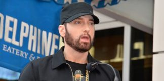 Eminem em 2020, na Calçada da Fama