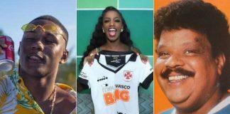"""Negão da BL, IZA e Tim Maia estão entre """"escalados"""" do Vasco"""