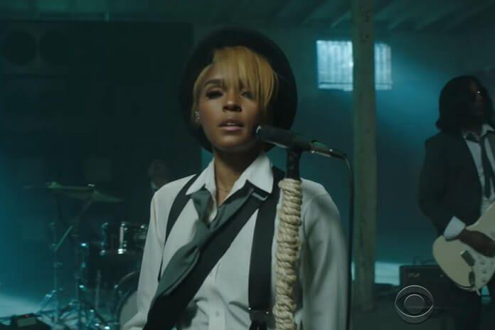 "Janelle Monáe apresenta o single ""Turntables"" no Late Night with Stephen Colbert"