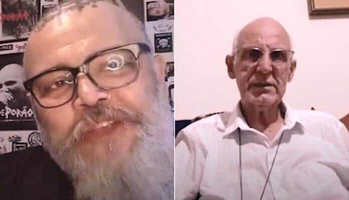 João Gordo com o Padre Julio Lancellotti
