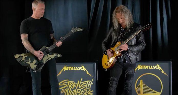 Metallica tocando hino dos EUA em jogo da NBA