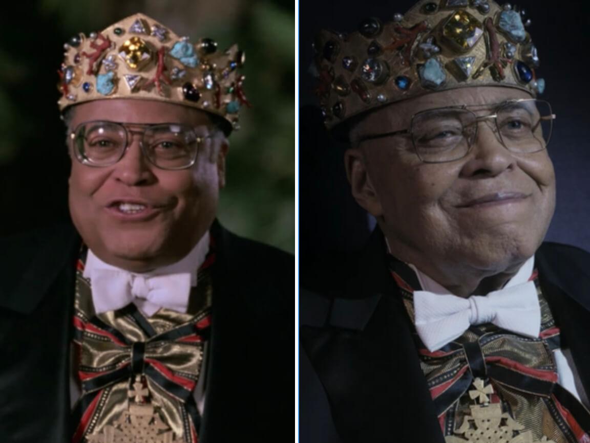 """Comparação de James Earl Jones em """"Um Príncipe em Nova York"""" 1 e 2"""