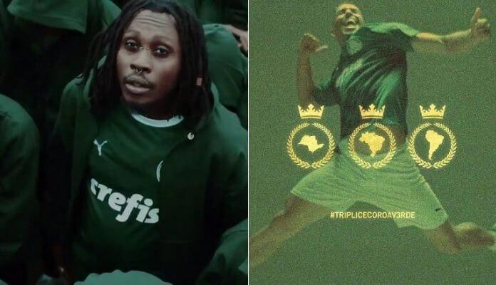 Rincon Sapiência canta sobre a Tríplice Coroa do Palmeiras