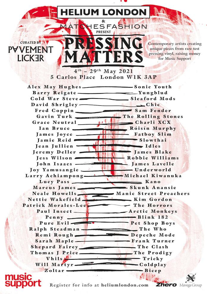 Pressing Matters - Ação Beneficente que conta com apoio de Arctic Monkeys, The Clash e outros