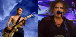 "John Frusciante em ""Californication"" e Robert Smith, do The Cure"