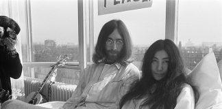 John Lennon e Yoko Ono em Amsterdam, 1969