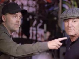 Lars Ulrich mostra QG do Metallica a Brian Johnson
