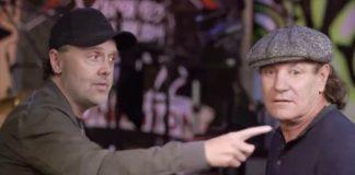 Lars Ulrich mostra QG do Metallica a Brian Johnson