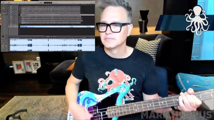 Mark Hoppus tocando blink-182 na Twitch