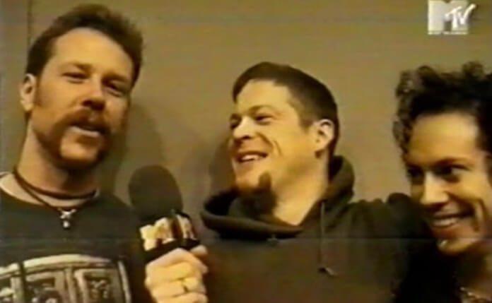 Bastidores do Metallica no MTV Europe Music Awards 1996