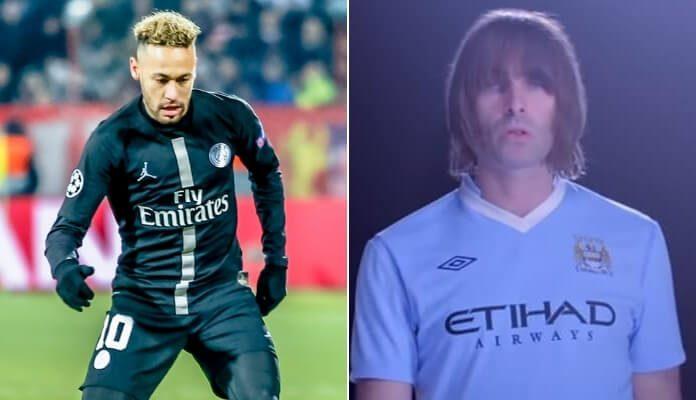 Neymar Jr. e Liam Gallagher