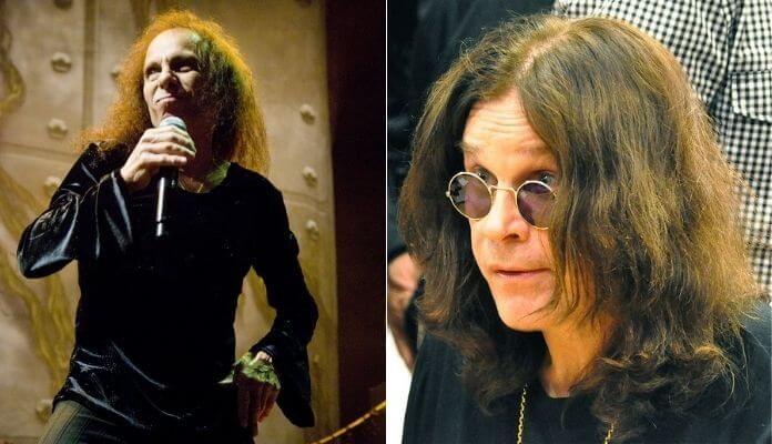 Dio e Ozzy, do Black Sabbath