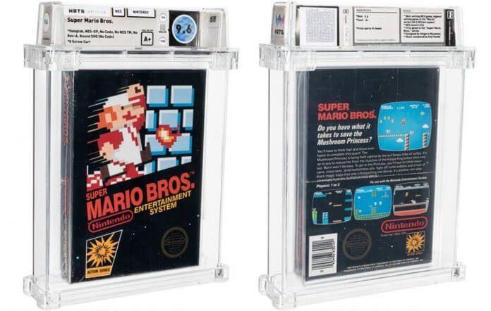 Cópia rara de Super Mario Bros. bate recorde em leilão