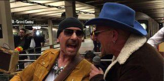 U2 no metrô de Nova York