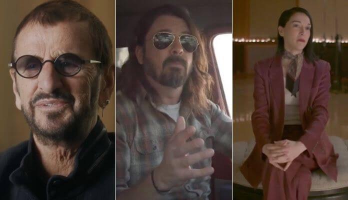 Ringo Starr, Dave Grohl e St. Vincent em trailer de