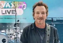 Eddie Vedder empolgado subir ao palco