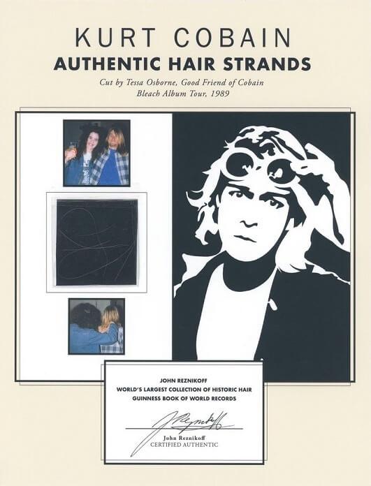 Leilão vende fios de cabelo de Kurt Cobain por quase 80 mil reais