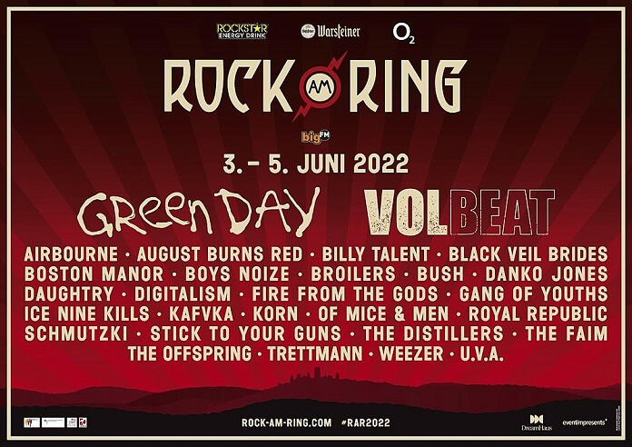 Line-up Rock am Ring 2022
