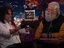 Dave Grohl entrevistando Alice Cooper