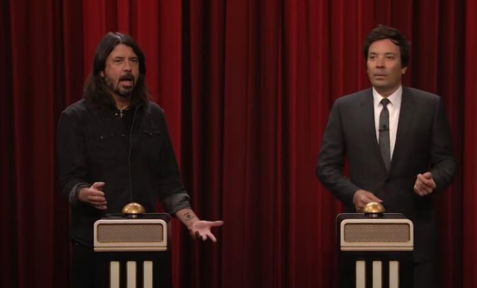 Dave Grohl não reconhece música do Nirvana em desafio de Jimmy Fallon
