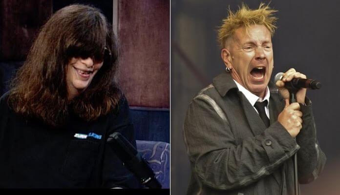 Joey Ramone e Johnny Rotten