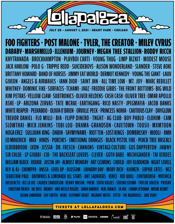 Cartaz do Lollapalooza Chicago 2021