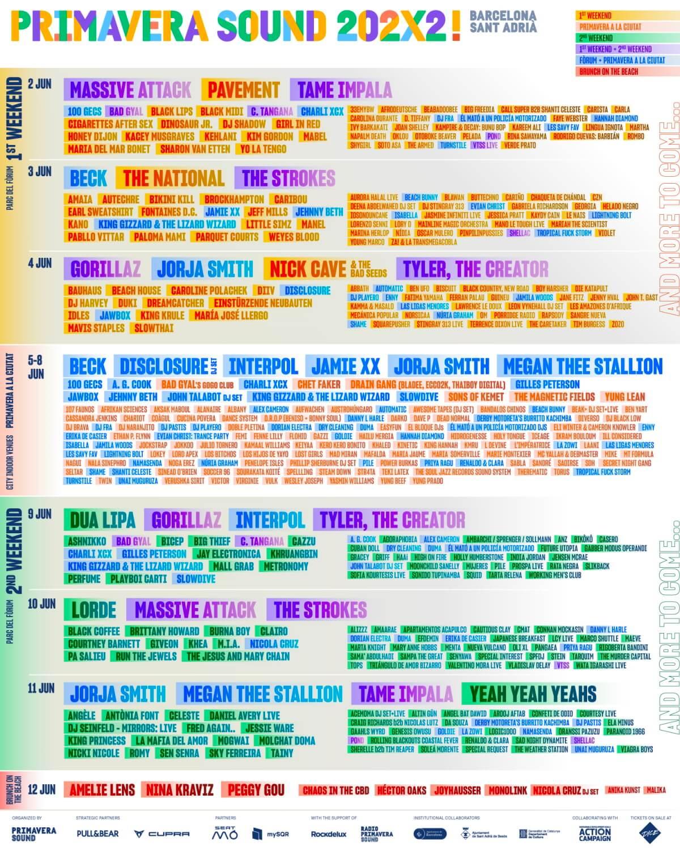 Line-up do Primavera Sound 2022