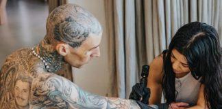 Kourtney Kardashian tatua Travis Barker