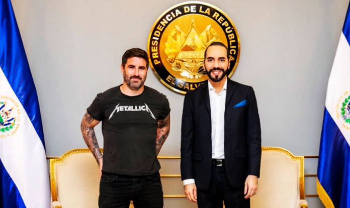 Nayib Bukele e Peter McCormack, El Salvador