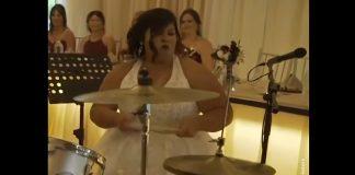Noiva baterista casamento bateria